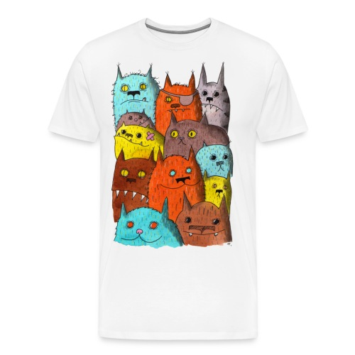 The Cats of Meow Tyson B - Men's Premium T-Shirt