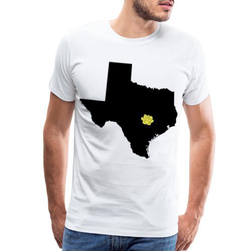 Vector Texas and Yellow Rose on Austin Capital - Men's Premium T-Shirt