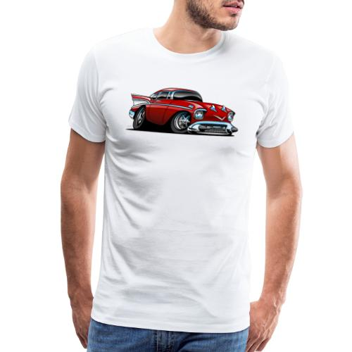 Classic American 57 Hot Rod Cartoon - Men's Premium T-Shirt