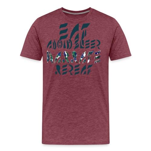 Eat Sleep Narrate Repeat - Men's Premium T-Shirt