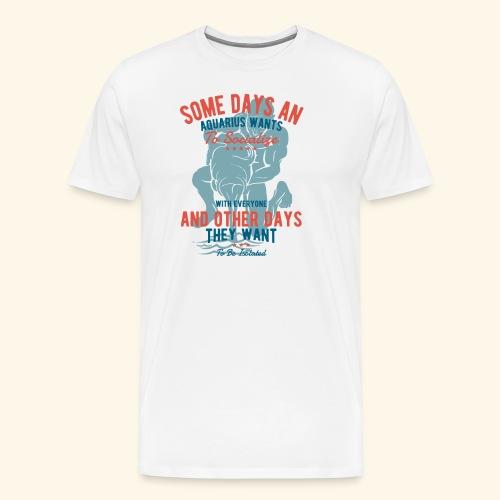 Aquarius Astrology January 20 - February 18 - Men's Premium T-Shirt