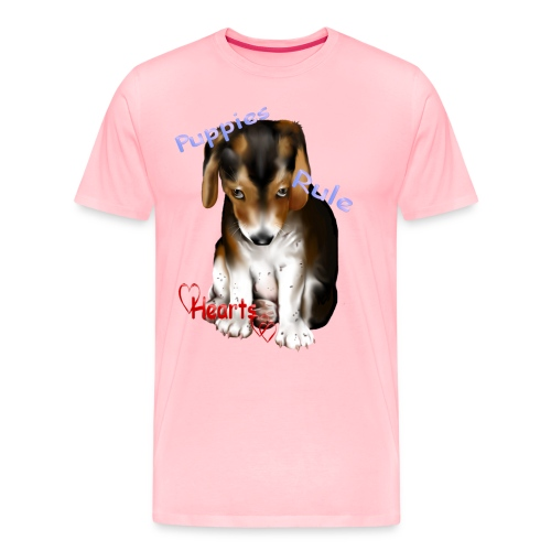 Puppies Rule - Men's Premium T-Shirt