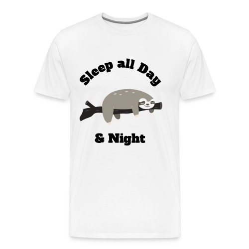 Sloth Funny Design - Men's Premium T-Shirt
