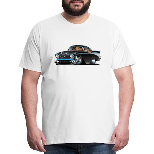 Classic hot rod fifties muscle car - Men's Premium T-Shirt
