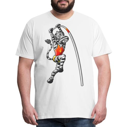 Olympic Pole Vault Zebra - Men's Premium T-Shirt