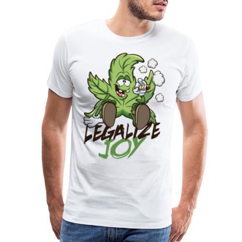 weed legalize joy - Men's Premium T-Shirt