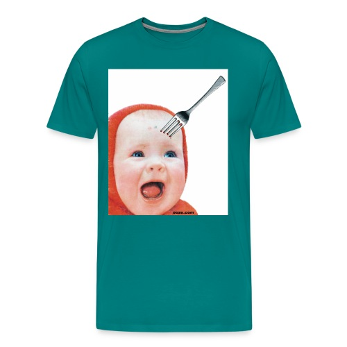 Baby with Fork in Head - Men's Premium T-Shirt