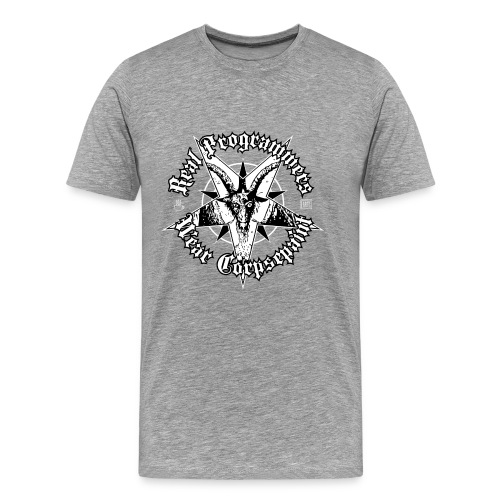 real programmers wear corpsepaint01 - Men's Premium T-Shirt