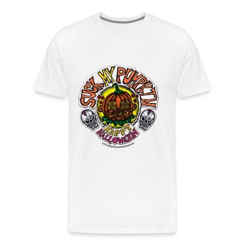 SUCK MY PUMPKIN (MENS T-SHIRT) - Men's Premium T-Shirt