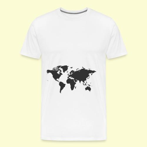 map of the world - Men's Premium T-Shirt