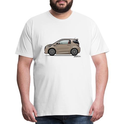 AM Cygnet Blonde Metallic Micro Car - Men's Premium T-Shirt