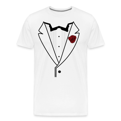 Tuxedo w/Black Lined Lapel - Men's Premium T-Shirt