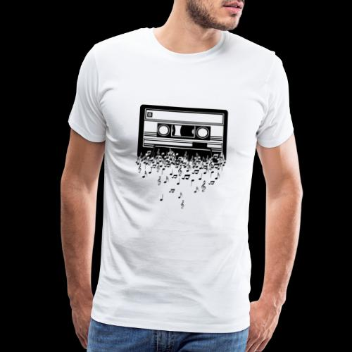Music Notes Cassette Tape - Men's Premium T-Shirt