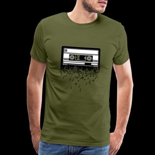 Music Notes Cassette Tape - Men's Premium T-Shirt