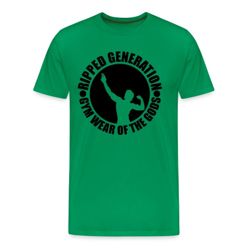 Ripped Generation Gym Wear of the Gods Badge Logo - Men's Premium T-Shirt