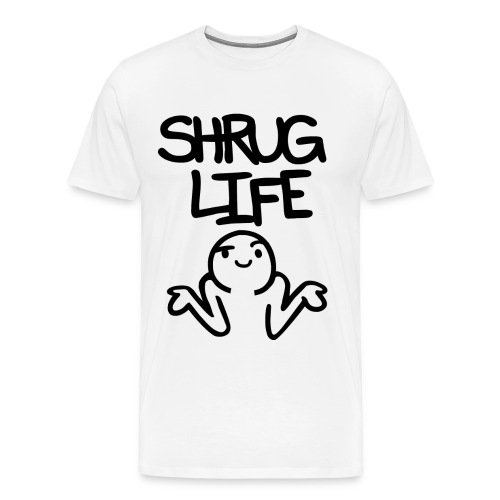 shrug life png - Men's Premium T-Shirt