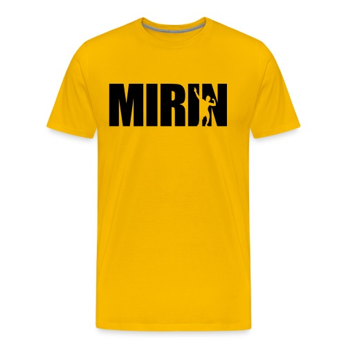 Zyzz Mirin Pose text - Men's Premium T-Shirt
