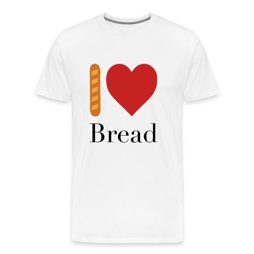 I Love Bread French Tee - Men's Premium T-Shirt