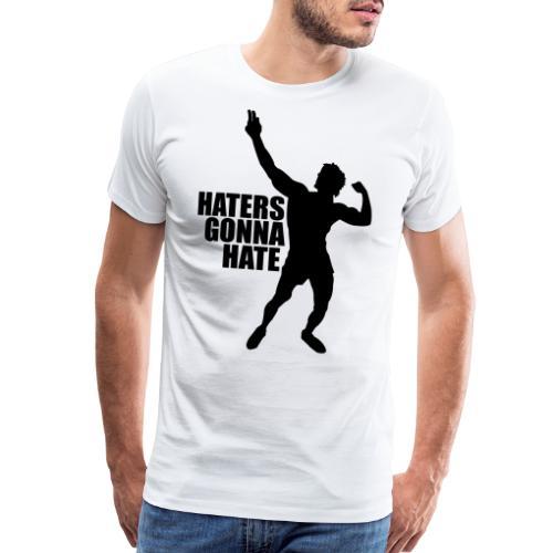 Zyzz Silhouette Haters Gonna Hate - Men's Premium T-Shirt