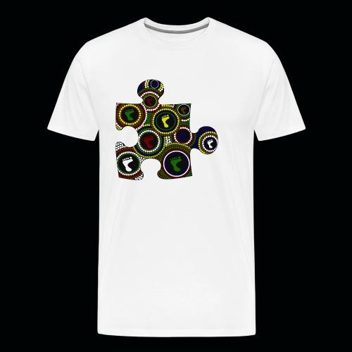 Dot painting puzzle - Men's Premium T-Shirt