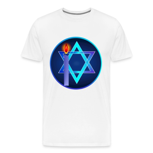 Star Of David and Light - Men's Premium T-Shirt