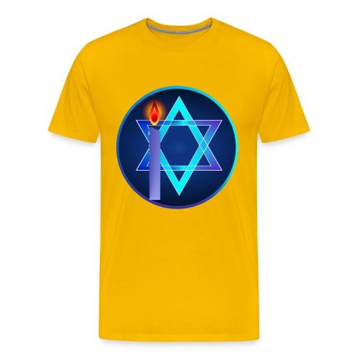 Star Of David and Light - Men's Premium T-Shirt