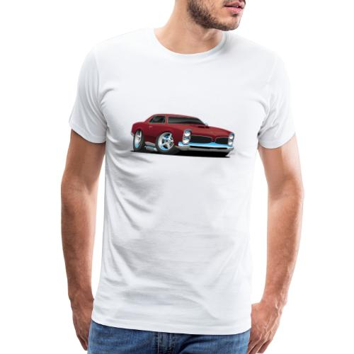 Classic American Muscle Car Cartoon - Men's Premium T-Shirt