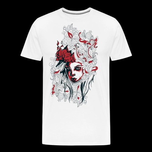 Hair Made of Flowers and Beautiful Disasters - Men's Premium T-Shirt