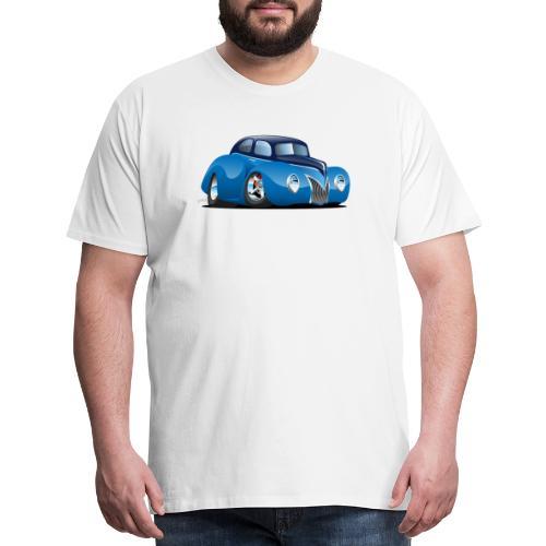 Classic 39 Street Rod Coupe Custom Car Cartoon - Men's Premium T-Shirt
