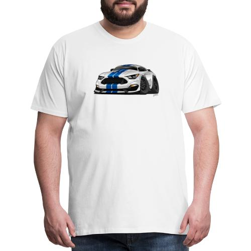 Modern American Muscle Car Cartoon - Men's Premium T-Shirt