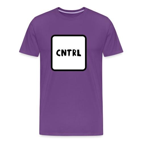 White CNTRL Logo - Men's Premium T-Shirt