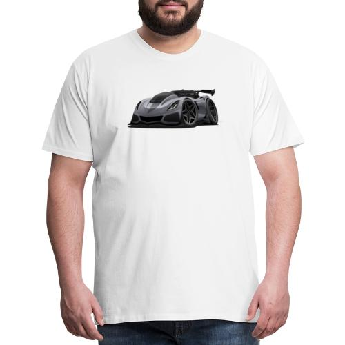 Modern American Sports Car Cartoon - Men's Premium T-Shirt