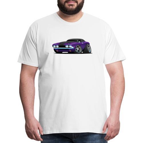 Classic Muscle Car Cartoon - Men's Premium T-Shirt
