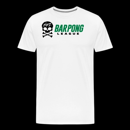 Bar Pong League Wide Logo - Men's Premium T-Shirt
