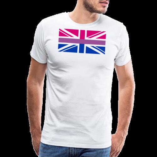 Gay Pride LGBT Bisexual Bi GB UK Union Jack Flag - Men's Premium T-Shirt
