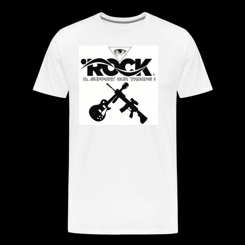 Eye Rock & Support The Troops - Men's Premium T-Shirt