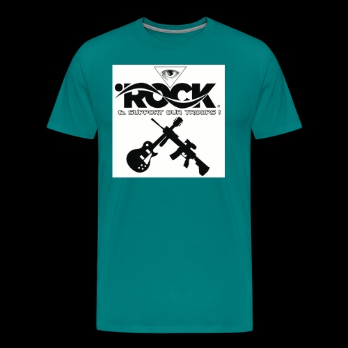 Eye Rock & Support The Troops - Men's Premium T-Shirt