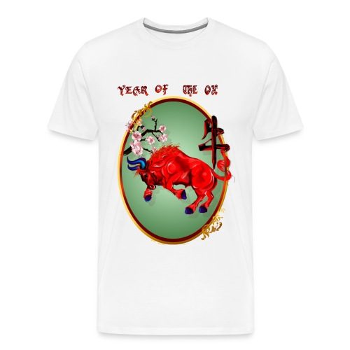 The Red Ox Oval - Men's Premium T-Shirt