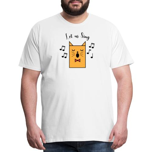 CAT sings - Let us sind together - Men's Premium T-Shirt