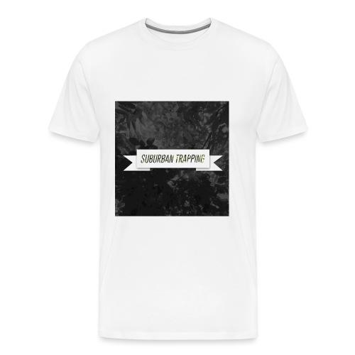 Leafy Black and White - Men's Premium T-Shirt