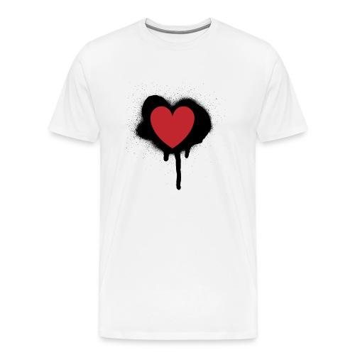 painted heart valentines day design - Men's Premium T-Shirt