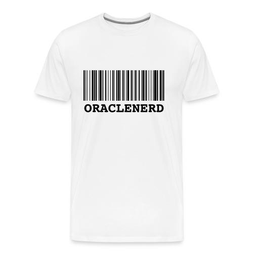 oraclenerd barcode - Men's Premium T-Shirt