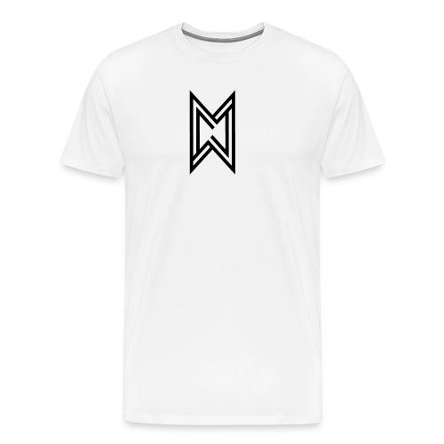 Black Logo White T-Shirt - Men's Premium T-Shirt