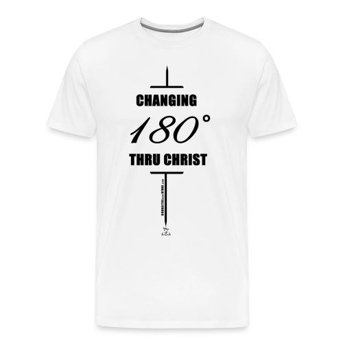 Changement à 180 degrés grâce au CHRIST - T-shirt premium pour hommes