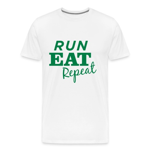 Run Eat Repeat buttons medium - Men's Premium T-Shirt