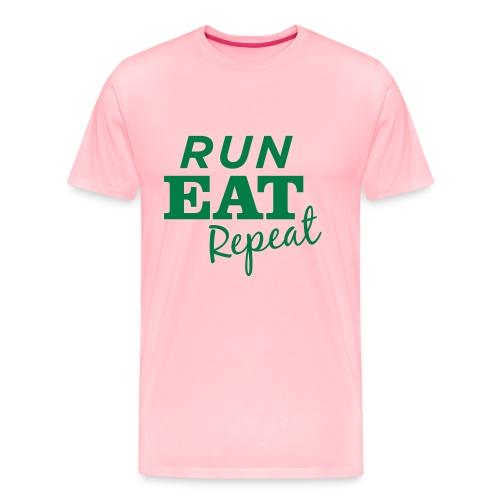 Run Eat Repeat buttons medium - Men's Premium T-Shirt