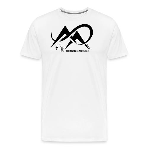 Fishing - The Mountains Are Calling - Black Logo - Men's Premium T-Shirt