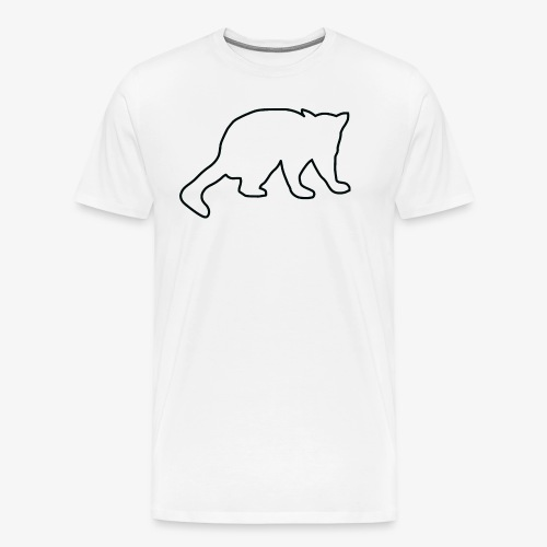Sir John the Possum Black Outline - Men's Premium T-Shirt