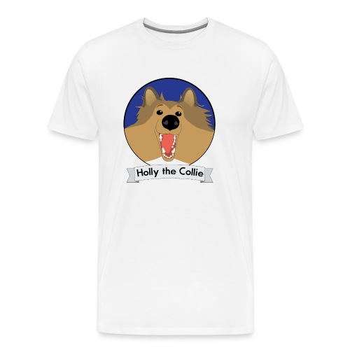 Holly the Collie blue - Men's Premium T-Shirt