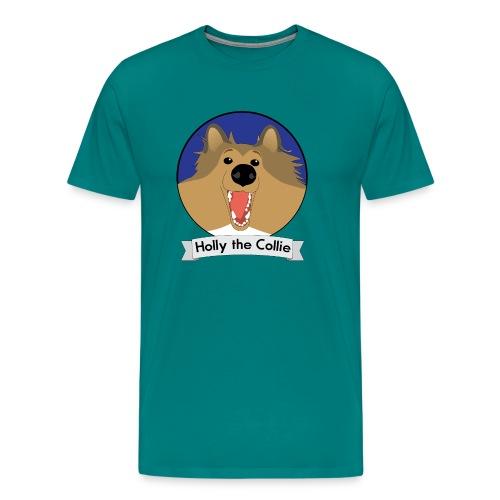 Holly the Collie blue - Men's Premium T-Shirt